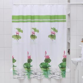 Штора для ванной комнаты Доляна «Лилия», 180×180 см, EVA