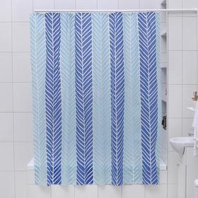 Штора для ванной комнаты Доляна «Ёлочка», 180×180 см, EVA
