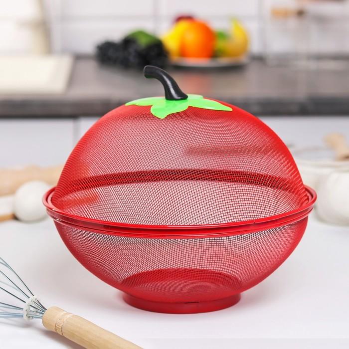 """Сито с крышкой для хранения продуктов """"Вкус"""", d=25 см, цвет МИКС"""