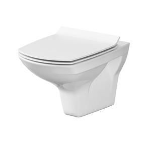 Унитаз подвесной Cersanit CARINA NEW CLEAN ON, сиденье дюропласт, slim lift, цвет белый