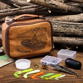 Набор рыболовных принадлежностей «Рыбак в лодке», 13 предметов