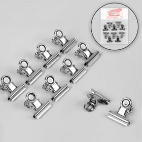 Clips for making arched nails set 10pcs 2.5 cm metal package QF
