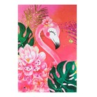 """Notepad A6, 24 sheets on the clip Calligrata """"Flamingo 1"""", cardboard cover"""