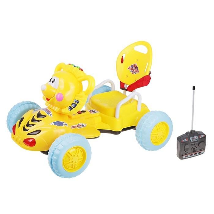 Электромобиль «Львенок», радиоуправляемый, световые и звуковые эффекты, цвета МИКС, 74х25х54см