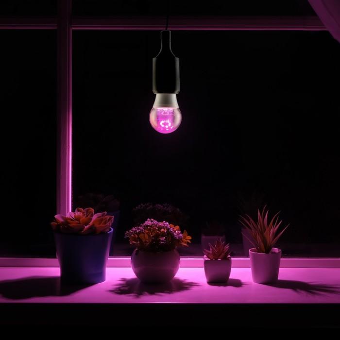 Светодиодная лампа для растений ( фитолампа ) Luazon 7 Вт, E27, 220В