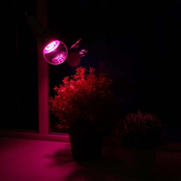 Светодиодная лампа для растений ( фитолампа ) Luazon 9 Вт, E27, 220В