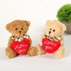 Мягкая игрушка «Медведь с сердцем», цвет МИКС - фото 107040435