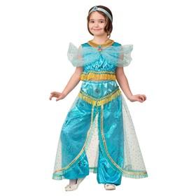 Карнавальный костюм «Принцесса Жасмин», текстиль-принт, блуза, шаровары, р. 28, рост 110 см