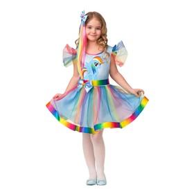 """Карнавальный костюм """"Радуга Дэш"""",  платье, заколка - волосы, р.28, рост 110 см"""