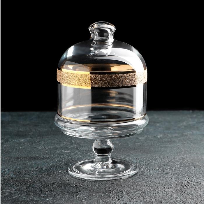 Миникупол для мёда и варенья на ножке «Кристалл Базик», 500 мл