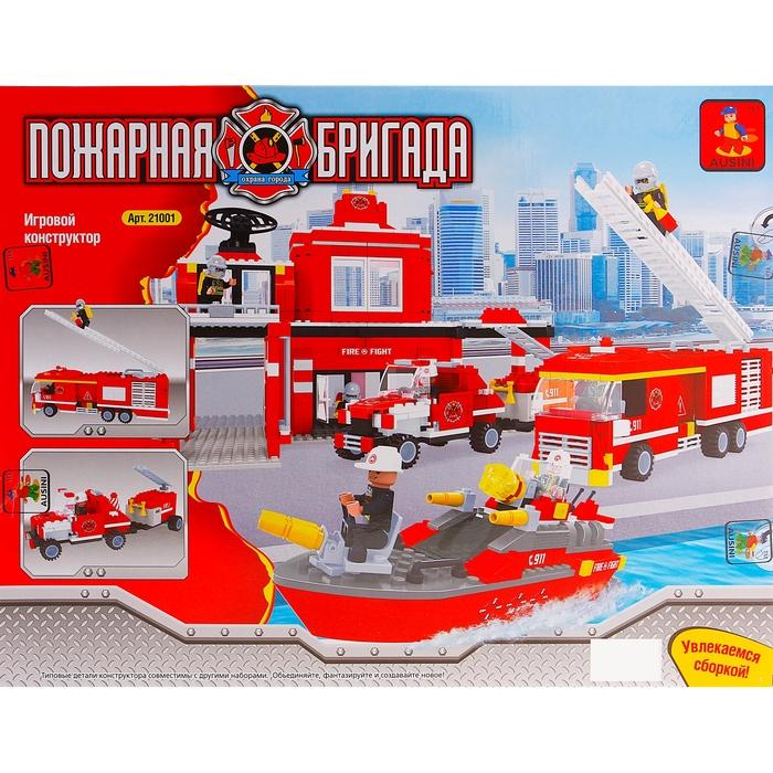 Конструктор «Пожарная бригада», 774 детали
