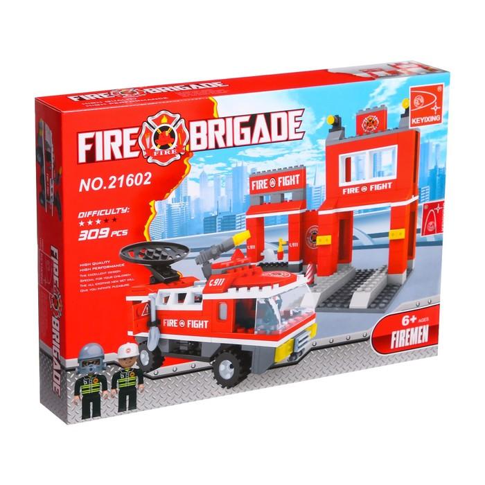 Конструктор Пожарная бригада «Станция», 301 деталь