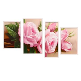 "Модульная картина ""Розовые розы"" 25х40(2), 29х53,20х53 см"