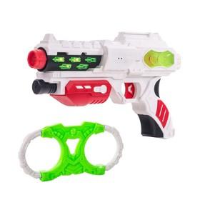 Игровой набор Fun Red, бластер, наручники, звуковые и световые эффекты