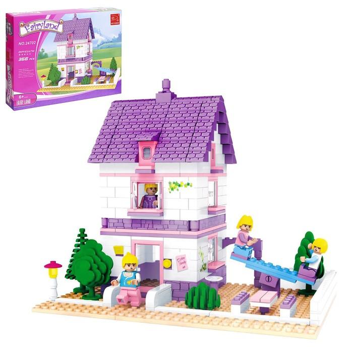 Конструктор «Дом с площадкой», 366 деталей