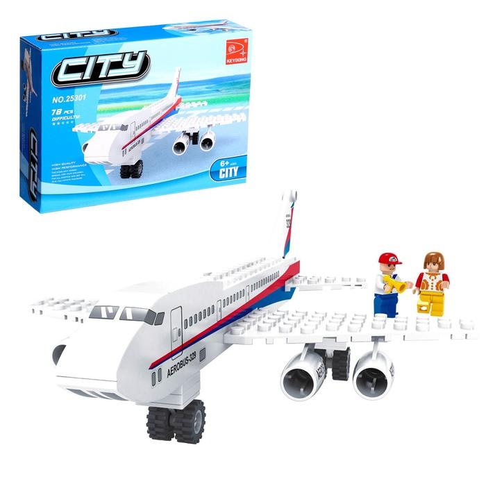Конструктор «Пассажирский самолёт», 78 деталей