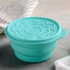Bowl with lid foldable 16,6х15х8 cm, MIX color