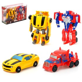 Набор роботов «Автоботы», трансформируется, 2 штуки, МИКС