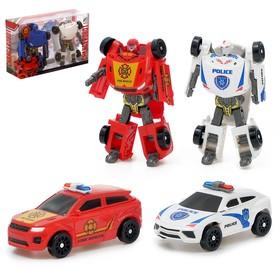 Набор роботов «Кроссоверы», трансформируется, 2 штуки, МИКС