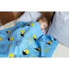 "Вязаный плед ""Крошка Я"" Туканы, размер 90х90 см, цвет голубой - фото 7399073"