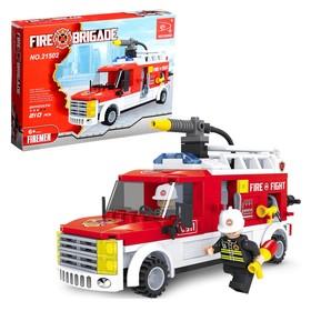 Конструктор Пожарная бригада «Машина», 210 деталей