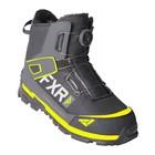 Ботинки FXR Helium Outdoor BOA с утеплителем, размер 43, чёрный, серый, жёлтый