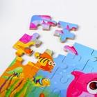 """Пазлы по цифрам """"Водный мир"""" 60 шт., 8×12,5×4 см - фото 105597640"""