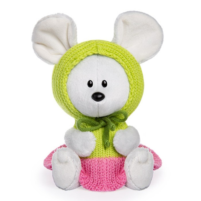 Мягкая игрушка «Мышка Пшоня» в платье с капюшоном, 15 см - фото 105615463