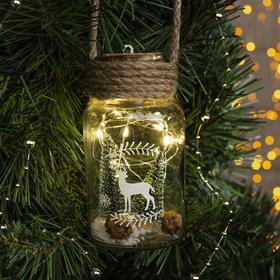 """Подвеска световая """"Новый год"""", 13х7х7 см, 6 LED, бат.(в комп), Т/БЕЛЫЙ"""