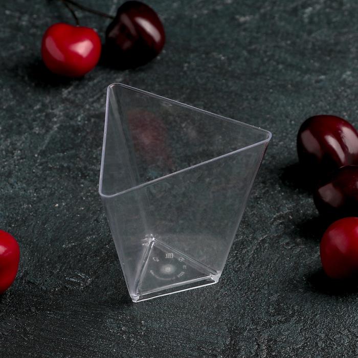 Чашка «Треугольник», 70 мл, 6,7 см, прозрачная