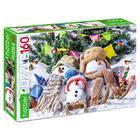 Пазл 160 элементов «Забавные снеговики»