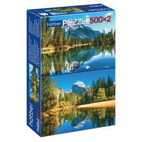 Пазл 2 в 1 «Горное озеро» 500+500 элементов