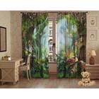 Комплект штор Заколдованный лес, 147х267 +/- 3см 2шт, габардин, п/э100% - фото 105554051