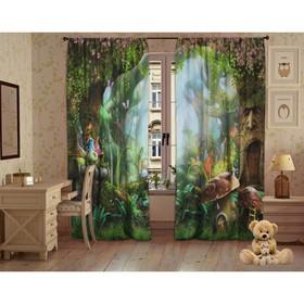 Комплект штор Заколдованный лес, 147х267 +/- 3см 2шт, габардин, п/э100%