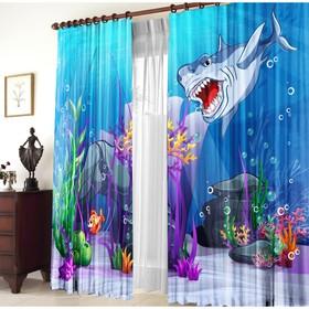 A set of curtains At the bottom, 147x267 +/- 3cm 2pcs, gabardine, p / e100%