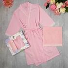 Подарочный набор KAFTAN, полотенце 30*60, халат р.M (44-46), розовый
