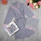 Подарочный набор KAFTAN, полотенце 30*60, халат р.S (42-44), серый