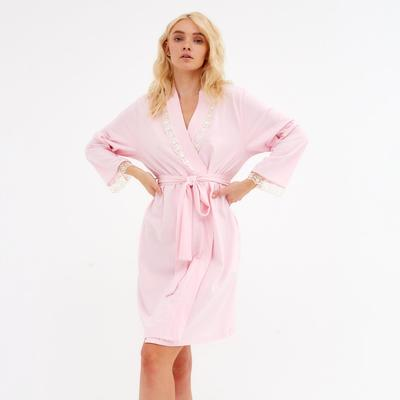 Bathrobe women's KAFTAN with lace, rose, R. S (42-44)