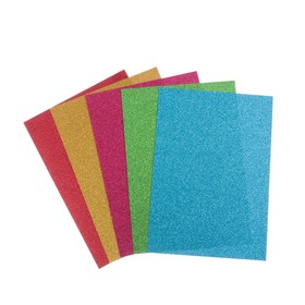 """Набор цветной офсетной бумаги """"БЛЕСТКИ"""", А4,  8 шт, микс 80 г/м2, 21х29,7 см, САМОКЛЕЯЩАЯСЯ"""