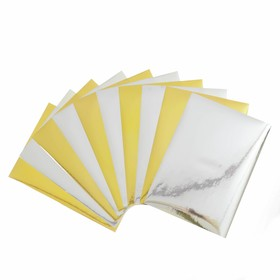 A set of coloured coated paper, A4, 10 sheets (5 gold+5 silver), self-ADHESIVE