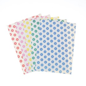 Colored set of offset paper, A4, FLOWERS 5 PCs, mix, 80 g / m2, 21x29.7 cm, self-ADHESIVE