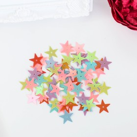 """Sequins for creativity """"Stars"""", bright mix, 15 mm, 20 g"""