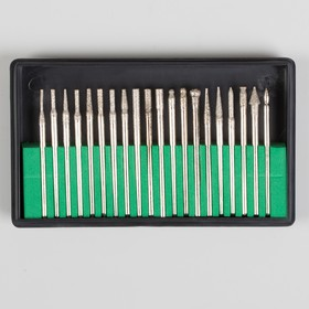 A set of cutters diamond nail drill 20pcs p/box package QF