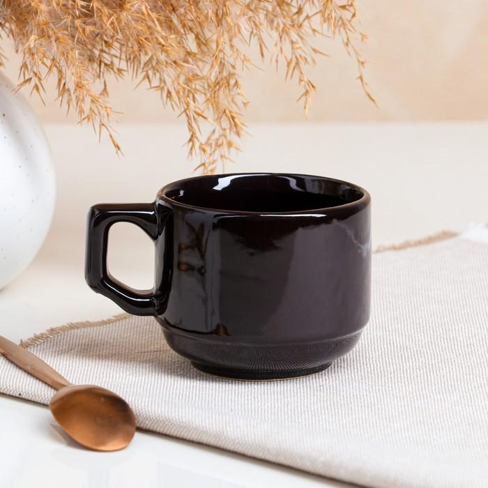 Кружка кофейная Black, 0.12 л - фото 686622661