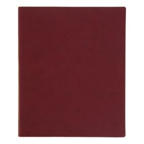 Бизнес-блокнот А4, 96 листов «Премиум», обложка из искусственной кожи, бордовый