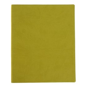 Бизнес-блокнот А4, 96 листов «Премиум», обложка из искусственной кожи, горчичный