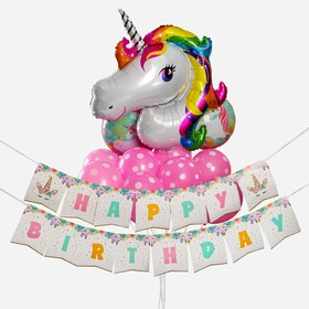 "A bouquet of balloons ""Unicorn. With the birthday"" garland, set of 13 PCs"