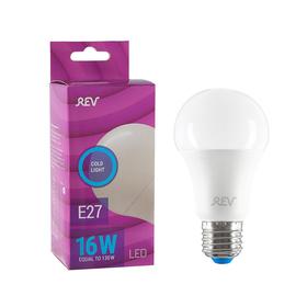 Лампа светодиодная REV LED, A60, 16 Вт, Е27, 6500 K, дневной свет
