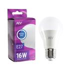 Лампа светодиодная REV LED, A60, 16 Вт, Е27, 4000 K, нейтральный свет