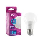 Лампа светодиодная REV LED, A60, 10 Вт, Е27, 6500 K, дневной свет